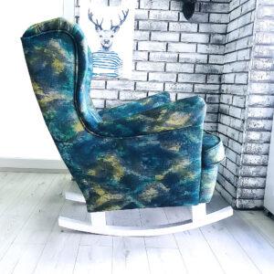 fotel uszak w tkaninie z fargotex
