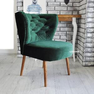 fotelik klubowy zielony