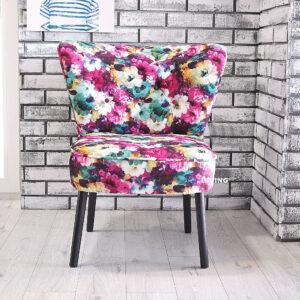 fotelik w kwiaty