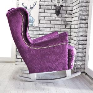 fotel uszak w fiolecie