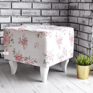 podnożek do fotela uszak w róże