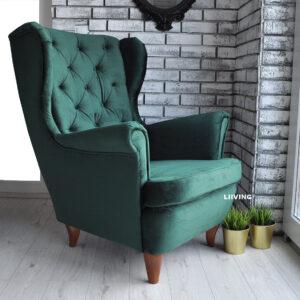 butelkowa zieleń fotel