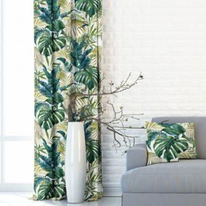 tkanina w kolorowe liście