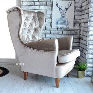 fotel uszak latte elegante 2