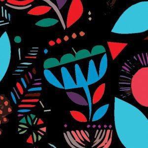 tkanina tapicerska z motywami folk
