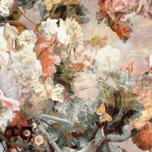 tkanina w róże kwiaty