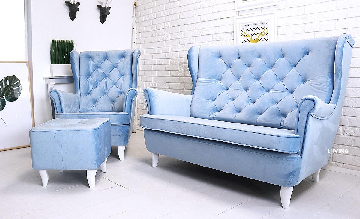 sofa uszak w kolorze light blue