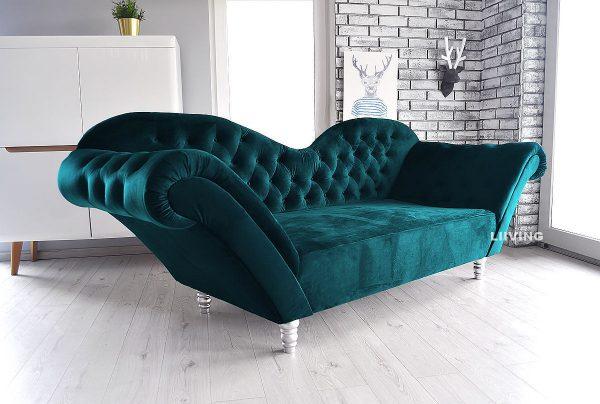 sofa w kolorze posejdon szmaragdowy