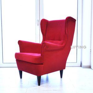 fotel czerwony