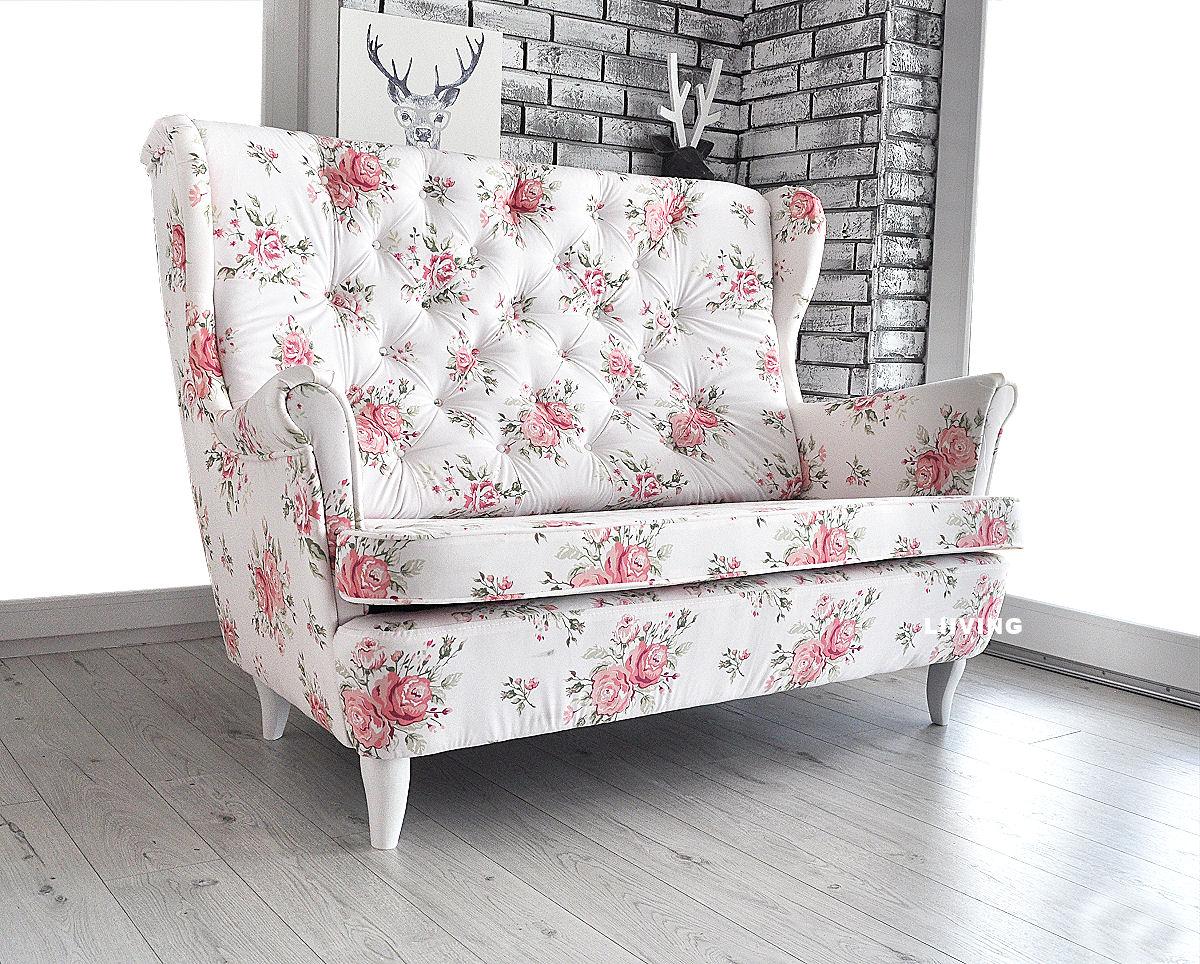 kanapa osobowa w kwiaty