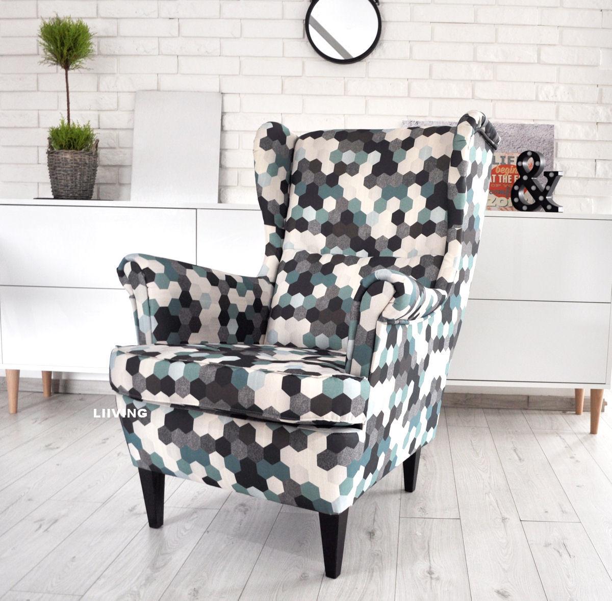 fotel w heksagonach
