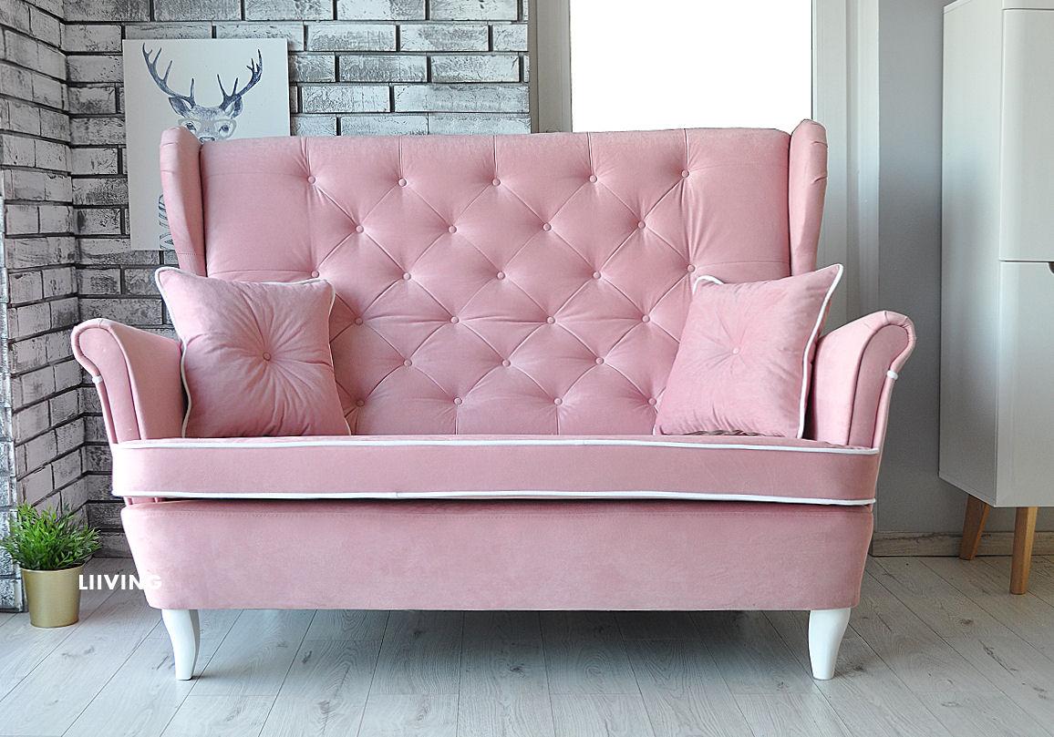 sofa uszak w różu