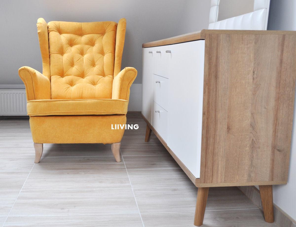 fotel uszak w kolorze żółtym